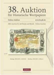 HWPH.DE Historisches Wertpapierhaus, 38. ONLINE-Auktion @ online