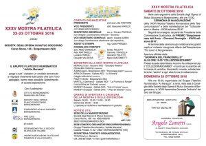 XXXV MOSTRA FILATELICA presso SOCIETA' DEGLI OPERAI DI MUTUO SOCCORSO_ Borgomanero (No)
