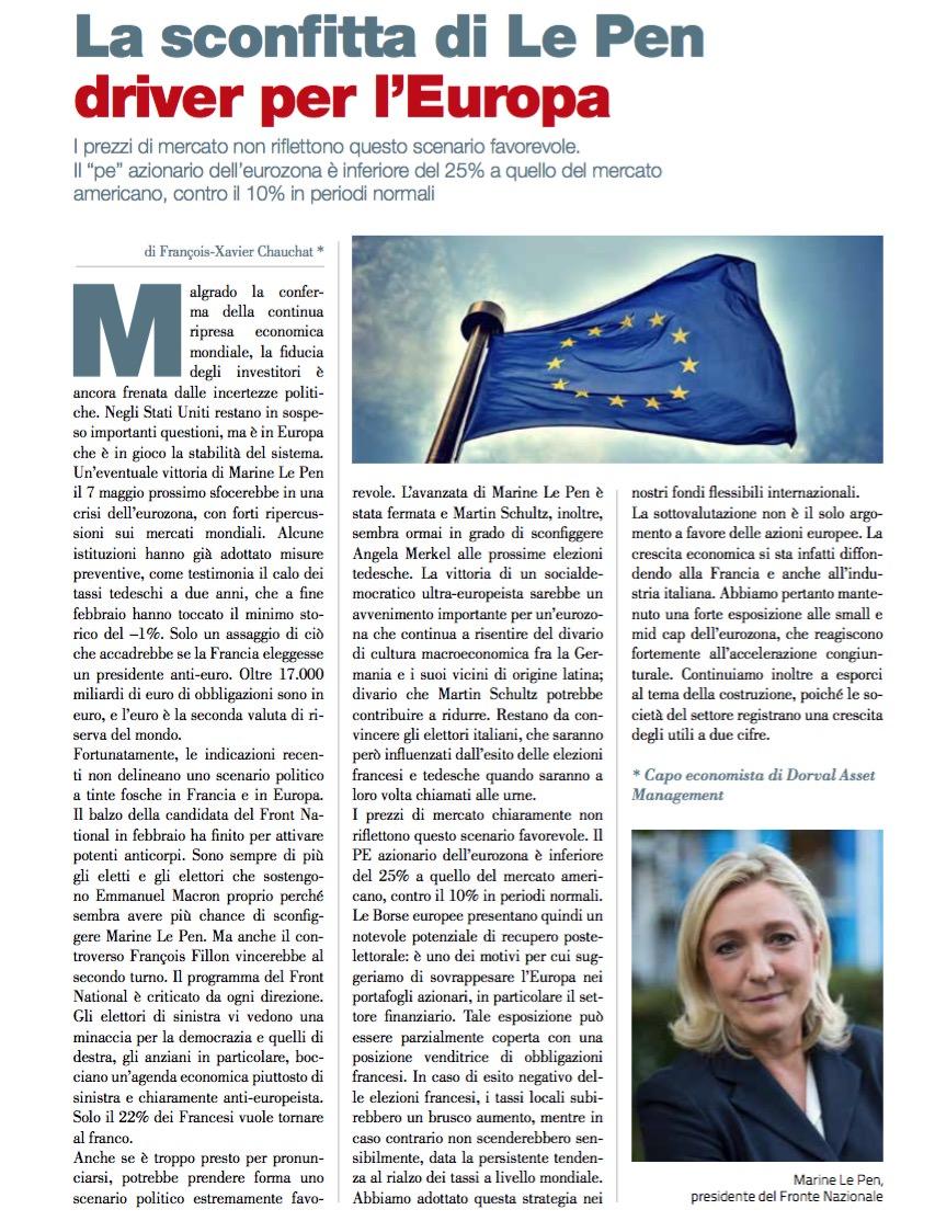 La sconfitta di Le Pen driver per l'Europa