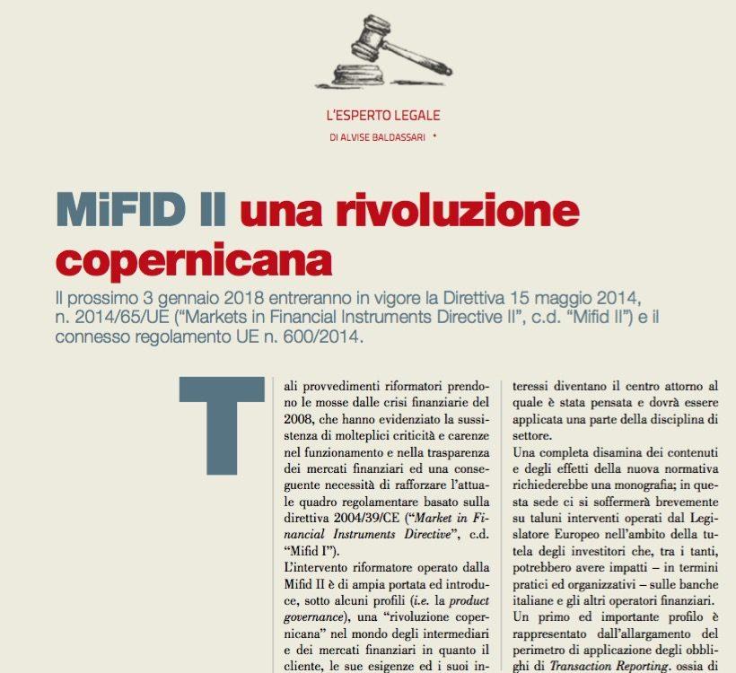 MiFID II una rivoluzione copernicana