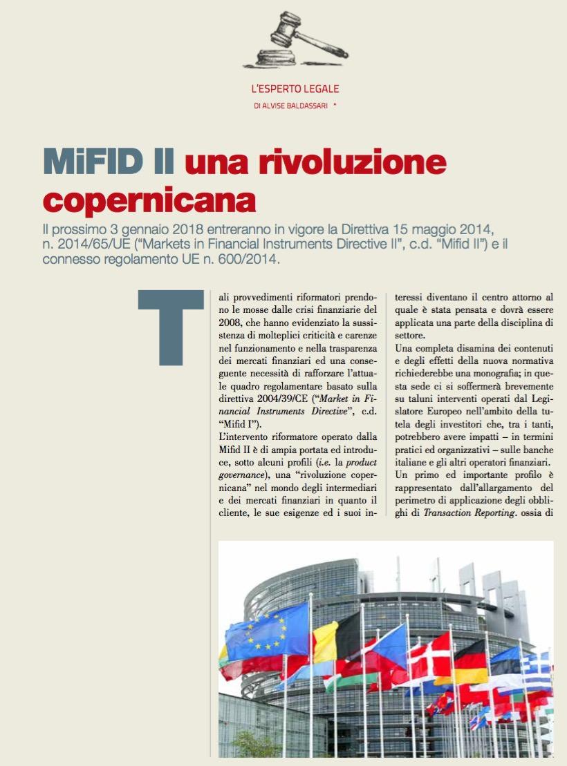 MiFID II una rivoluzione copernicana di ALVISE BALDASSARI • Scripomarket