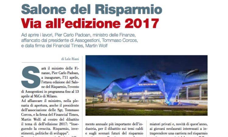 Salone del Risparmio Via all'edizione 2017