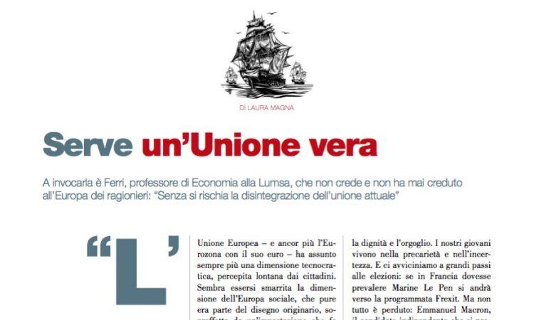 Serve un'Unione vera