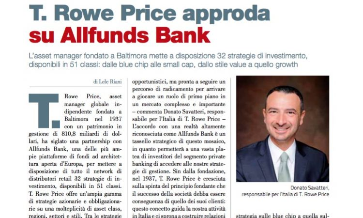 T. Rowe Price approda su Allfunds Bank