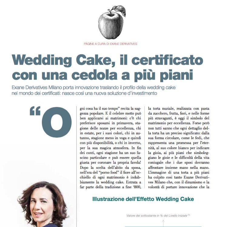 Wedding Cake, il certi cato con una cedola a più piani