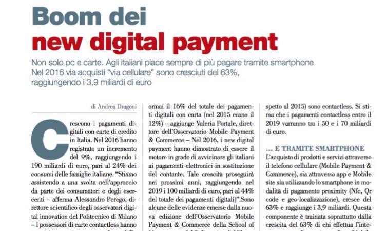 Boom dei new digital payment