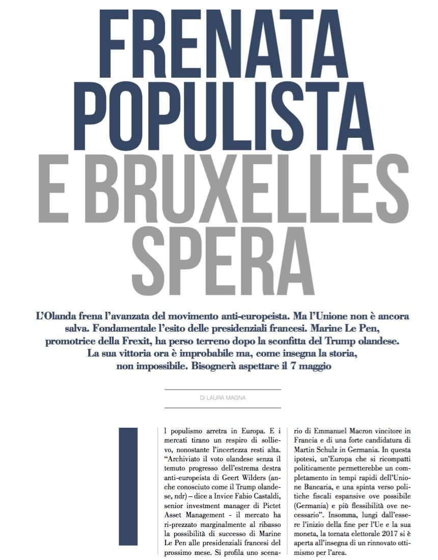 Frenata populista E Bruxelles spera