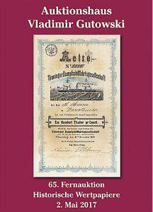 Auktionshaus Gutowski Historische Wertpapiere 65. Auktion