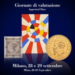 BOLAFFI - GIORNATE DI VALUTAZIONE A MILANO IL 28 E 29 SETTEMBRE