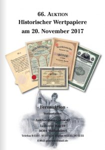 Auktionshaus Gutowski Historische Wertpapiere
