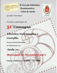 51° Convegno Filatelico Numismatico e Cartofilio