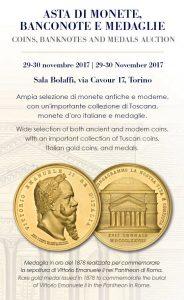 ASTA BOLAFFI: MONETE, BANCONOTE E MEDAGLIE