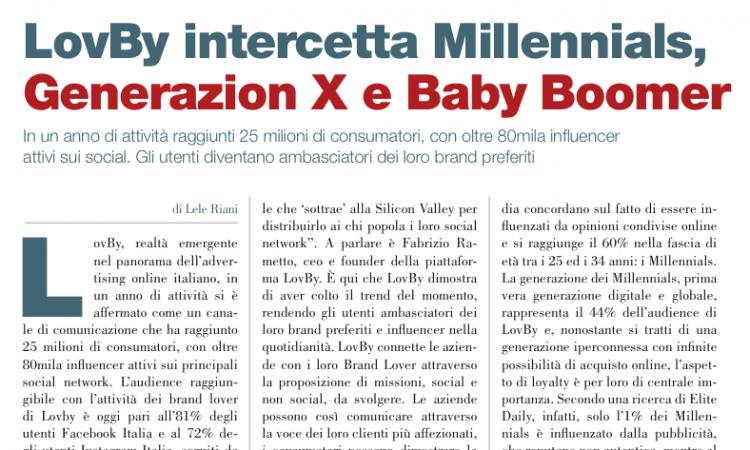 LovBy intercetta Millennials, Generazion X e Baby Boomer (di Lele Riani)