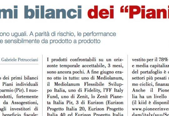 """I primi bilanci dei """"Piani"""" (di Gabriele Petrucciani)"""