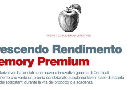 Crescendo Rendimento Memory Premium (a cura di Exane Derivates)