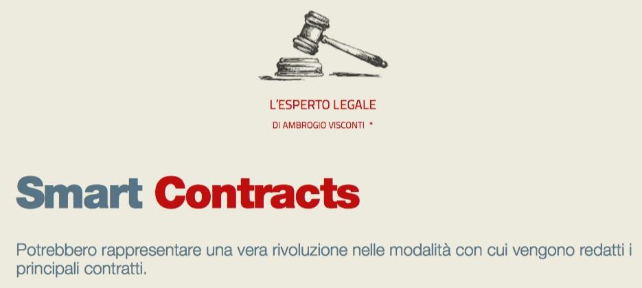 Smart Contracts (L ESPERTO LEGALE di Ambrogio Visconti)