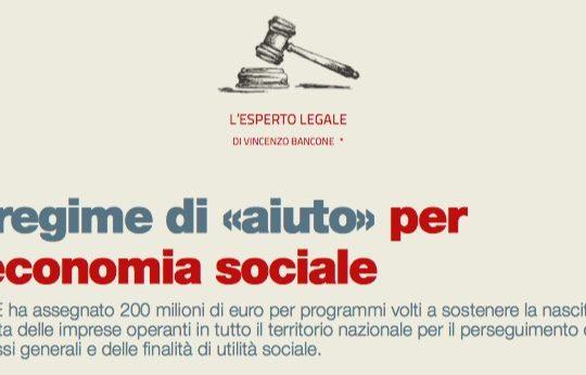 Il regime di per l'economia sociale (di Vincenzo Bancone)