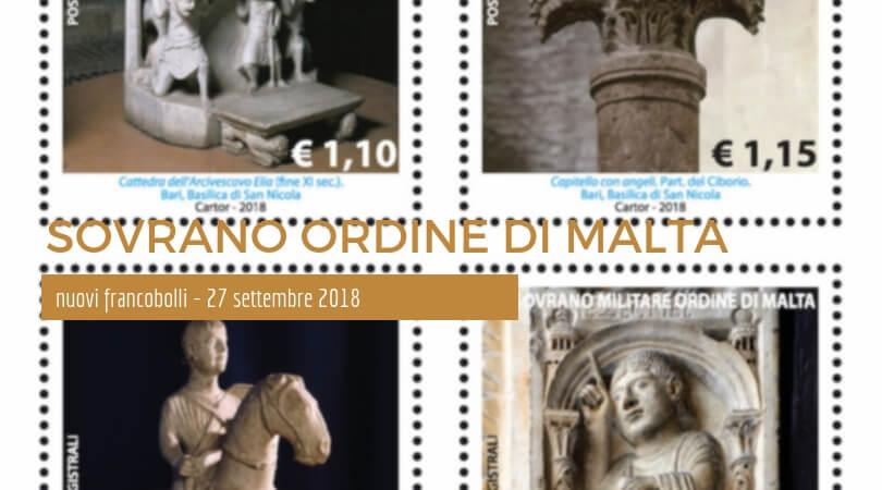 La Scultura nell'Arte i nuovi Francobolli del Sovrano Ordine di Malta – 27 settembre 2018 - Copertina