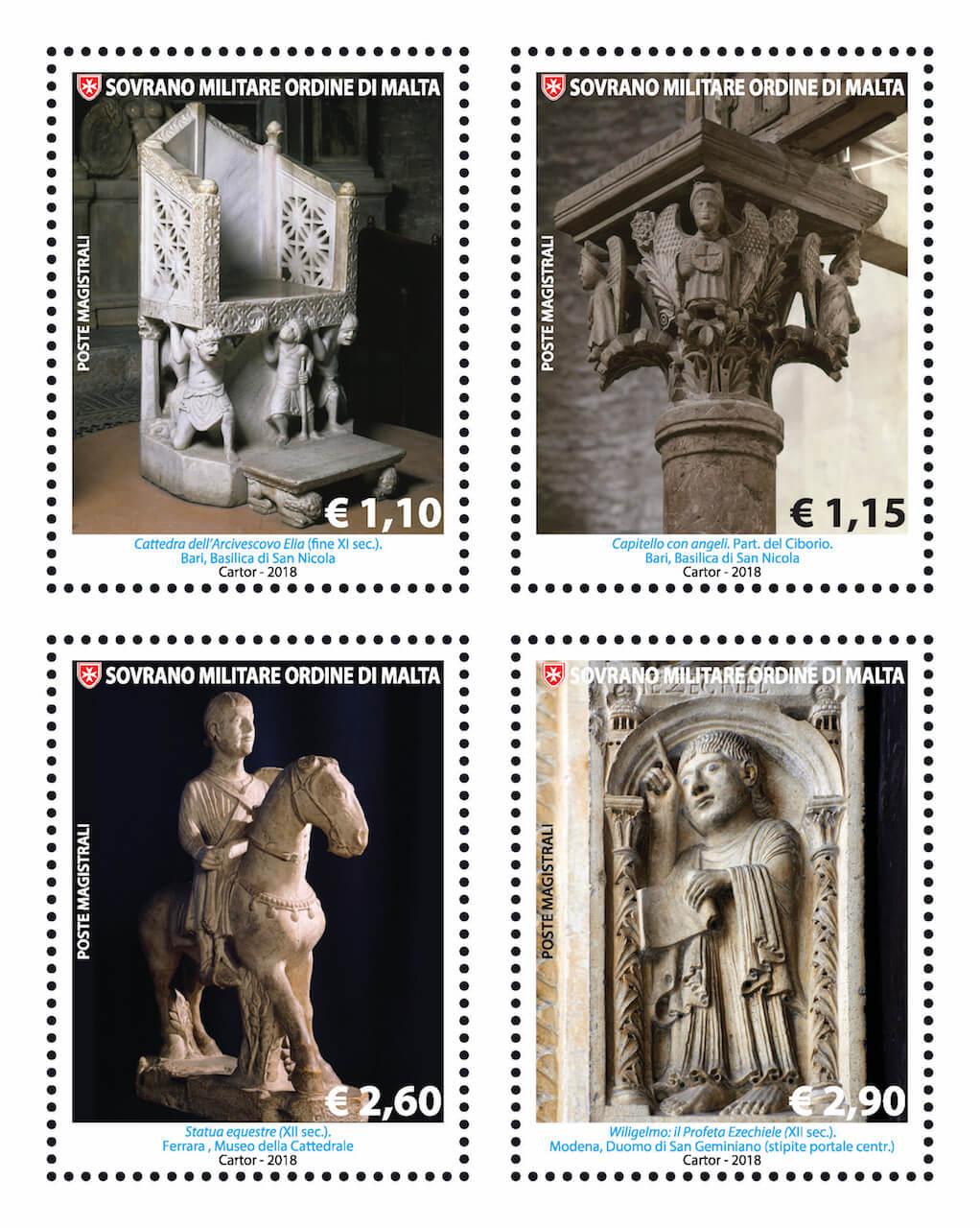 La Scultura nell'Arte_ i nuovi Francobolli del Sovrano Ordine di Malta – 27 settembre 2018