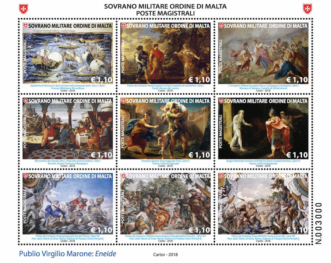 Nuovi francobolli del Sovrano Ordine di Malta - 27 settembre 2018 2