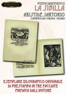 Giulio Aristide Sartorio - La Sibilla Esemplare campione firmato 1922