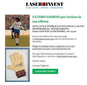 Asta Live & Pubblica di Filatelia, Calcio Memorabilia, Antiquariato