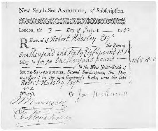 THE SOUTH SEA COMPANY – III 1739-1856: THE FINANCIAL CORPORATION