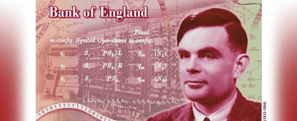 Alan Turing il noto matematico, sulla nuova banconota inglese da 50 sterline