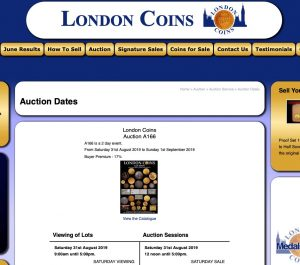 London Coins, Bracknell – UK