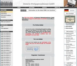 DWA Live Auction – Germany