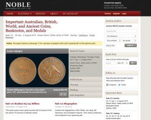 Noble Numismatics, Sydney – Australia