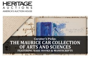 Heritage Auctions - The Maurice Car Collections of Arts and Sciences Featuring Rare Books & Manuscripts