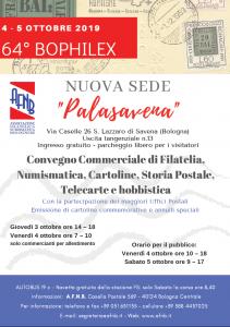 4-5 Ottobre 2019 - 64° BOPHILEX @ Palasavena | San Lazzaro di Savena | Emilia-Romagna | Italia