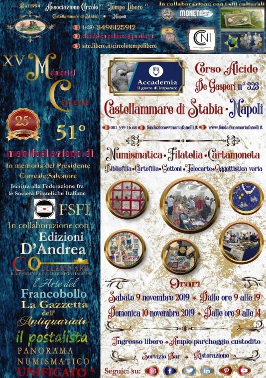 A Castellammare di Stabia il XV Memorial Correale 9-10 Novembre 2019 – Scripomarket