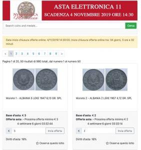 Asta Elettronica 11 Numismatica Marcoccia @ online