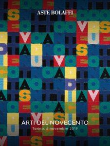 ASTA BOLAFFI ARTI DEL NOVECENTO 6 NOVEMBRE 2019