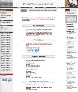DWA Deutsche Wertpapierauktionen GmbH @ Live bidding