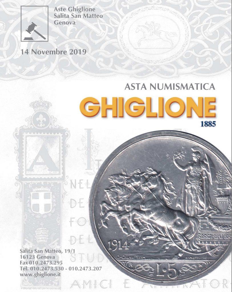 Prossima Asta numismatica GHIGLIONE il 14 Novembre • Scripomarket
