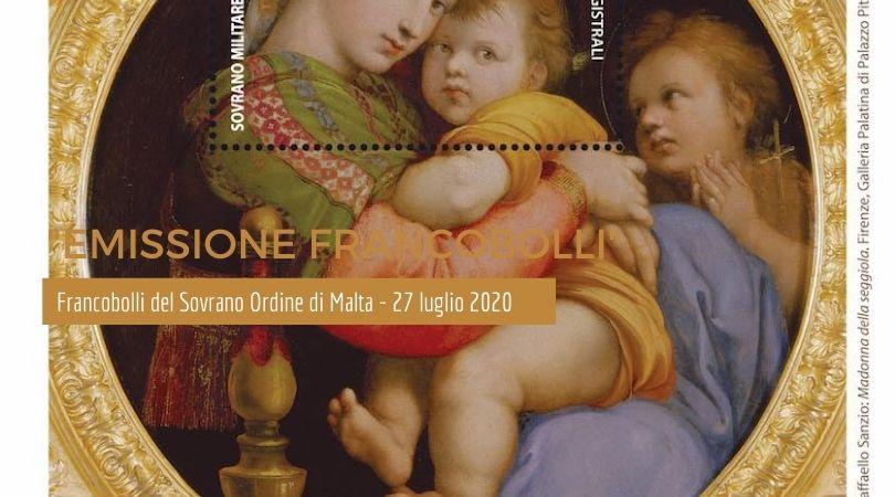 """""""V Centenario della morte di Raffaello Sanzio"""" - I francobolli del Sovrano Ordine di Malta - 27 luglio 2020 • Scripomarket"""