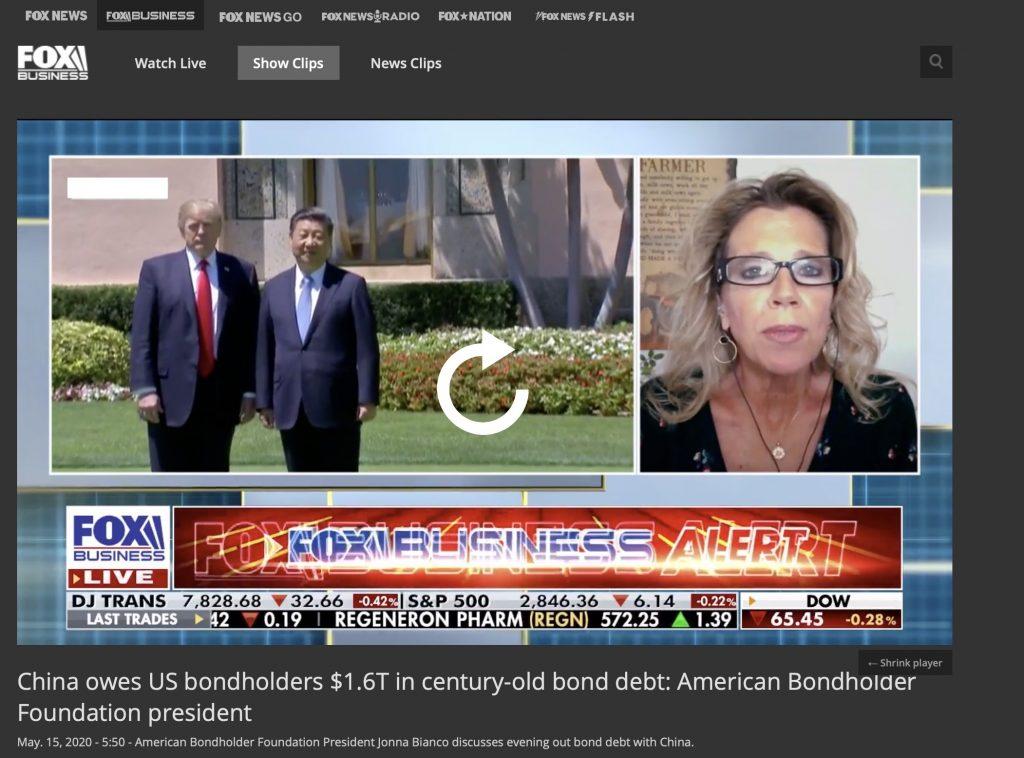 La Cina deve agli obbligazionisti statunitensi 1,6 miliardi di dollari di debiti obbligazionari storici: parla la presidente della American Bondholder Foundation • Scripomarket
